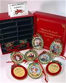 NORMAN ROCKWELL Saturday Evening Post Christmas Orn Set