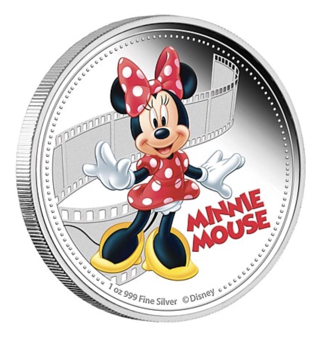 Walt Disney MINNIE MOUSE 1oz .999 Clad Silver Coin