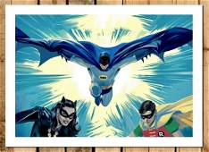 Original BATMAN  ROBIN from the 60s Canvas At Print