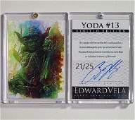 Scarce 1 of 25 Artist Signed STAR WARS Print Art Card