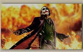 Dark Knight BATMAN Heath Ledger JOKER Canvas Art