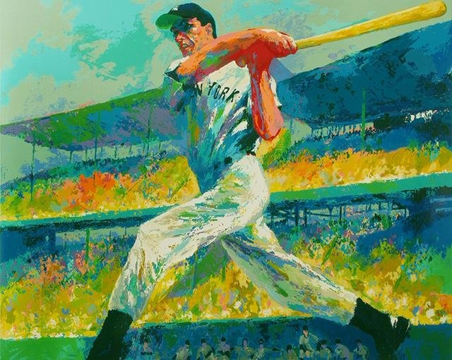 LeRoy Neiman Joe DiMaggio Art on Canvas Print