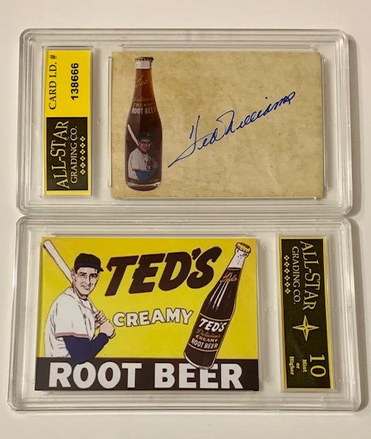 TED WILLIAMS Advertising Baseball Card