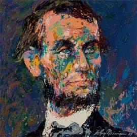 LeRoy Neiman Abraham Lincoln Art on Canvas Print