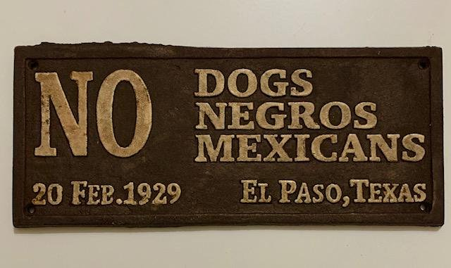 Dated 1929 Black Americana Cast Iron Segregation Sign