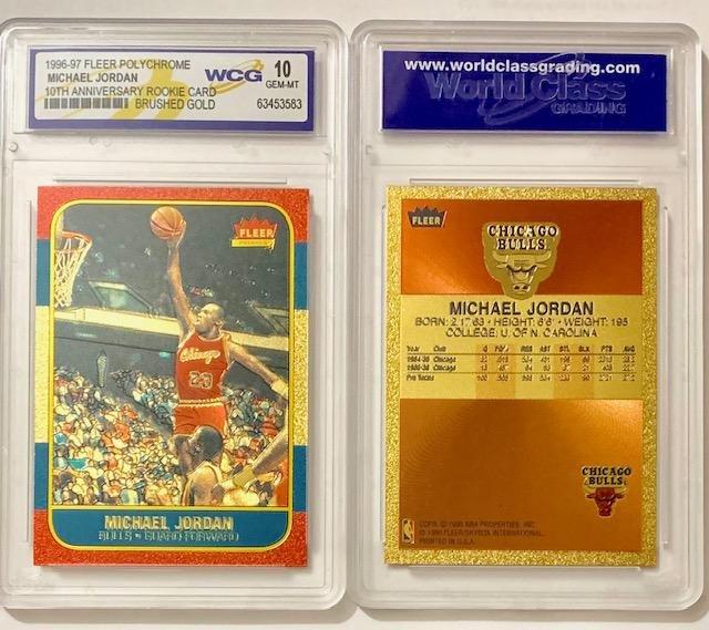 MICHAEL JORDAN Brushed Gold Rookie Basketball Card