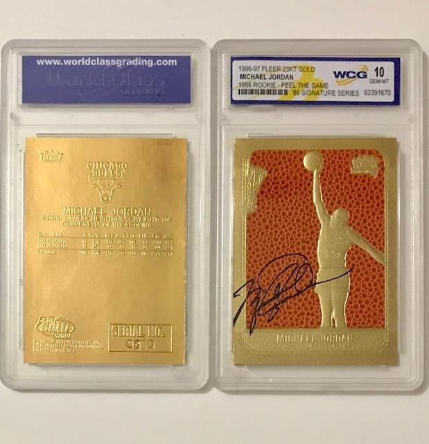 MICHAEL JORDAN Textured Fleer Rookie Signature Card
