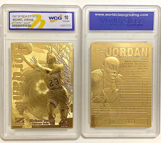 MICHAEL JORDAN 23kt Gold Skybox Z-Force Basketball Card