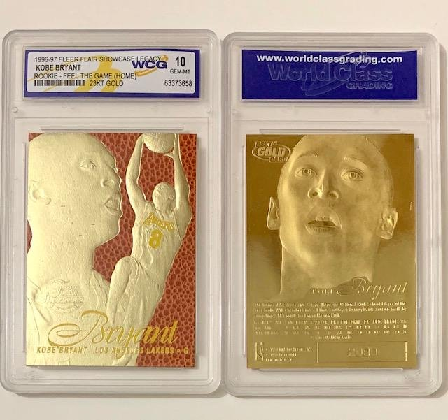 KOBE BRYANT 23kt Gold Textured Rookie Basketball Card