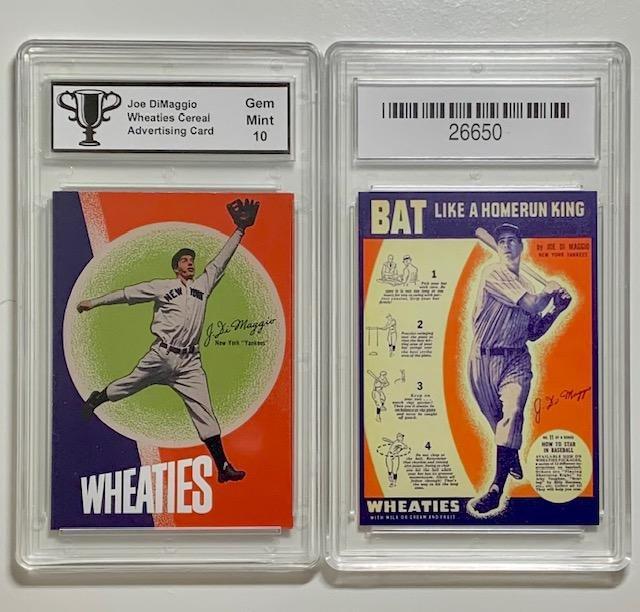 Joe DiMaggio Wheaties Cereal Advertising Baseball Card