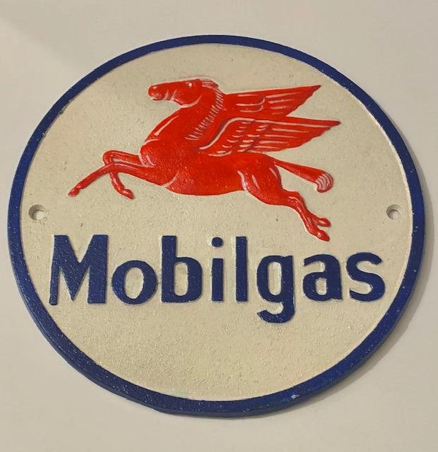 Cast Iron MOBILGAS Flying Pegasus Advertising Sign