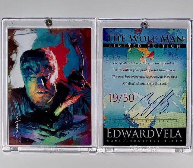 RARE / The WOLF MAN Artist Signed Giclee Art Card