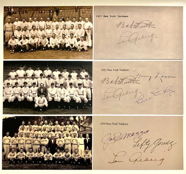 1927-1939 New York Yankees Team Photographs