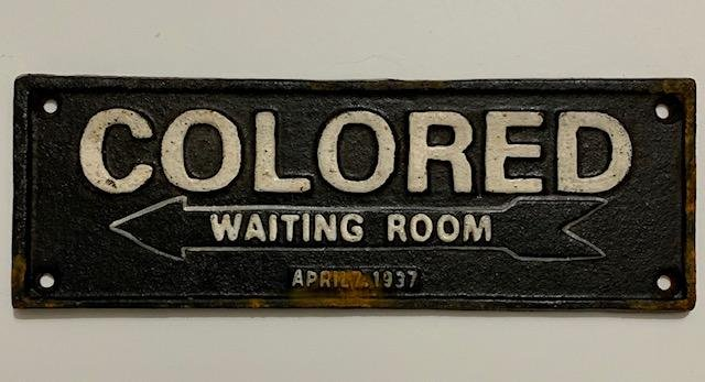 Dated 1937 Black Americana Cast Iron Segregation Sign