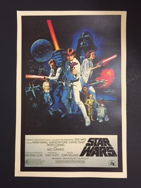 STAR WARS Movie Poster 12 X 18 - Excellent Condition