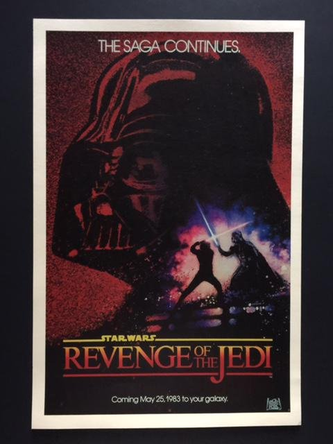 Re-Called STAR WARS Revenge of the Jedi Movie Poster
