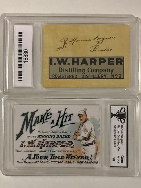 HONUS WAGNER Advertising Baseball Card
