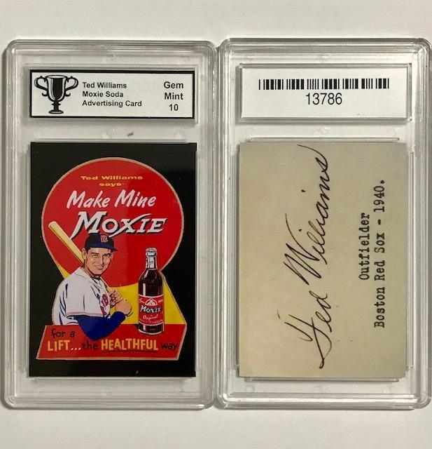 TED WILLIAMS Moxie Soda Advertising Baseball Card