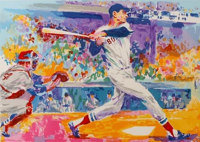 LeRoy Neiman TED WILLIAMS Art on Canvas Print