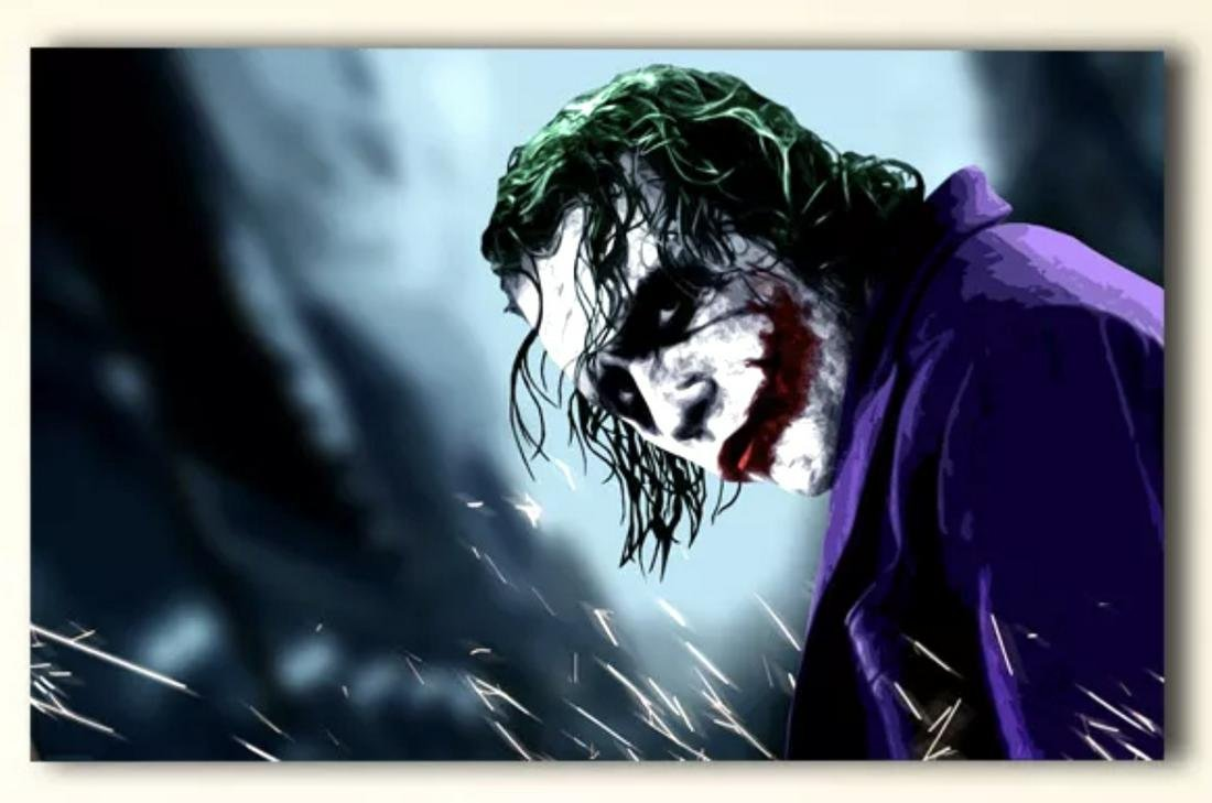 Heath Ledger/The JOKER from BATMAN the Dark Knight Art