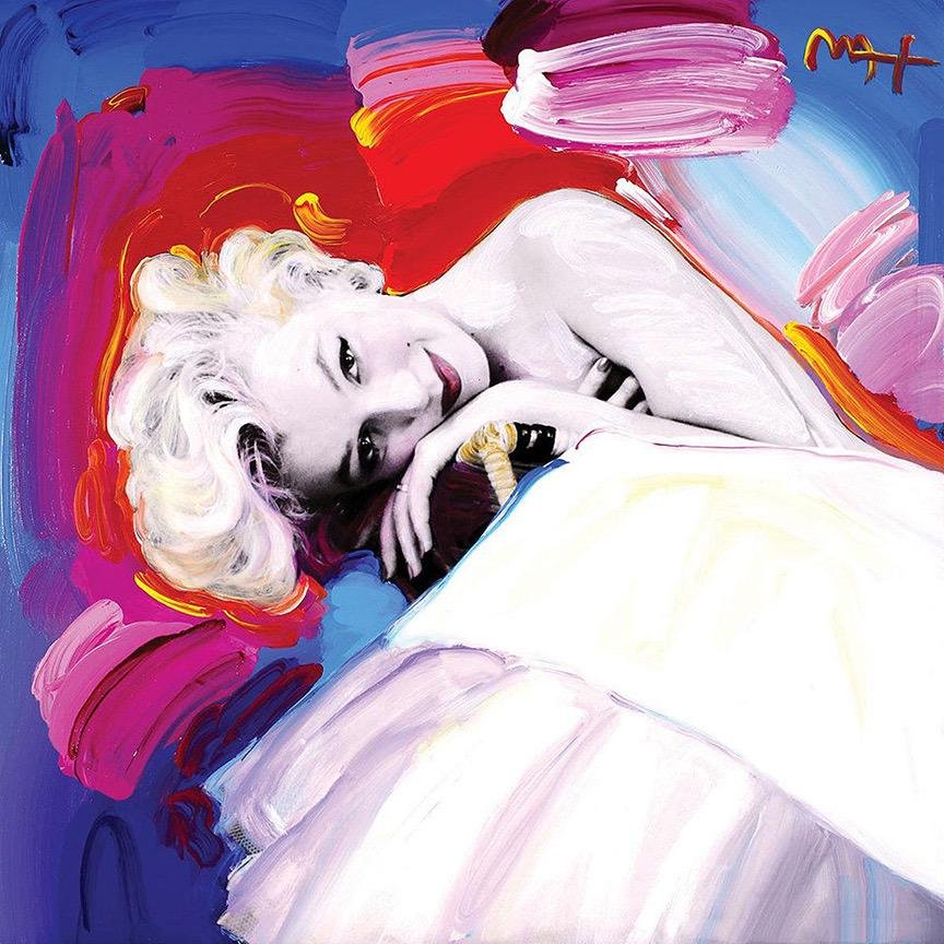 Marilyn Monroe Art on Canvas Print by Peter Max