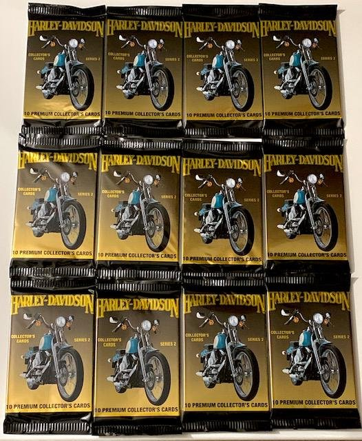 12 Packs of Original HARLEY DAVIDSON Trading Cards