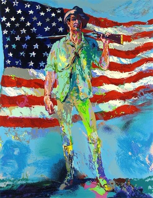LeRoy Neiman The Minuteman Art on Canvas Print