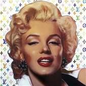 STEVE KAUFMAN Pop Art MARILYN MONROE Canvas Print