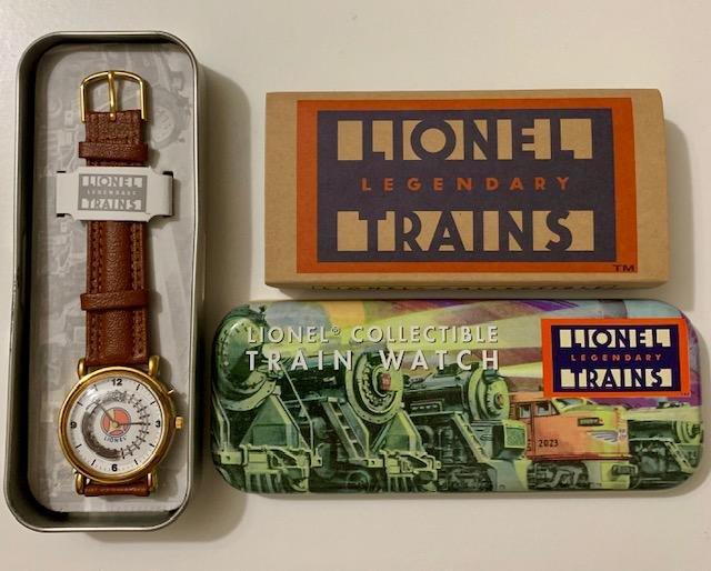 LIONEL TRAINS Legendary Watch w/Original Tin Box