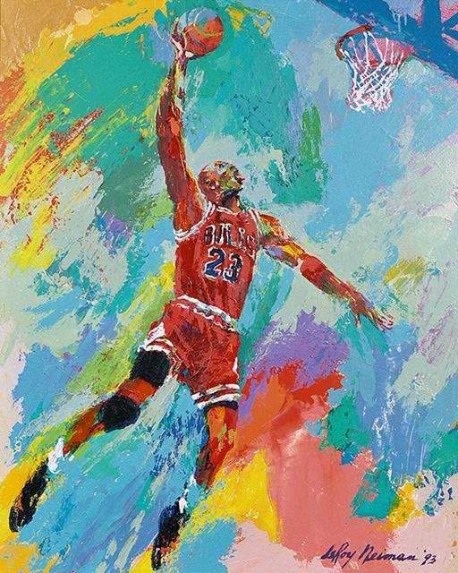 LeRoy Neiman MICHAEL JORDAN Art on Canvas Print