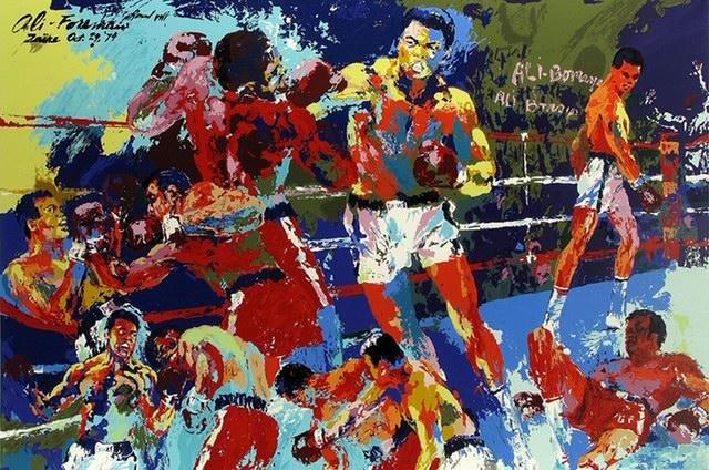 LeRoy Neiman Muhammad Ali Canvas Art Print Art