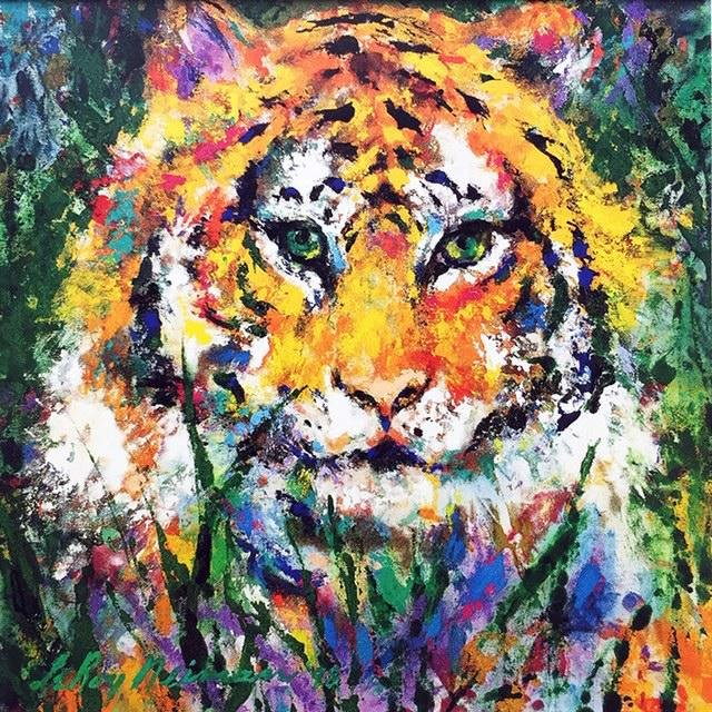 LeRoy Neiman Portrait of the Tiger Print on Canvas