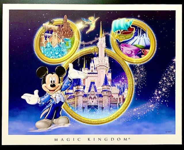 RARE Disney MAGIC KINGDOM Artist Approved Lithograph
