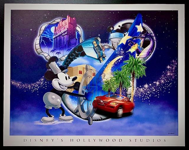 Disney HOLLYWOOD STUDIOS Artist Approved Lithograph