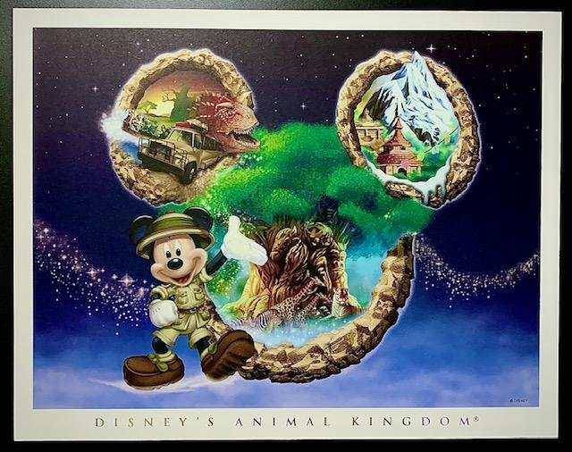 RARE Disney ANIMAL KINGDOM Artist Approved Lithograph