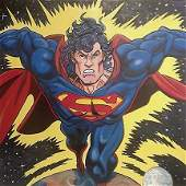 STEVE KAUFMAN Pop Art SUPERMAN Canvas Print