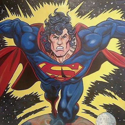 STEVE KAUFMAN Pop Art SUPERMAN Canvas Print