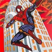 STEVE KAUFMAN Pop Art SPIDERMAN Canvas Print