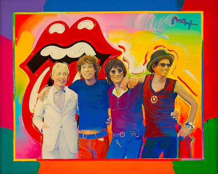The Rolling Stones Art on Canvas Print by   PETER MAX