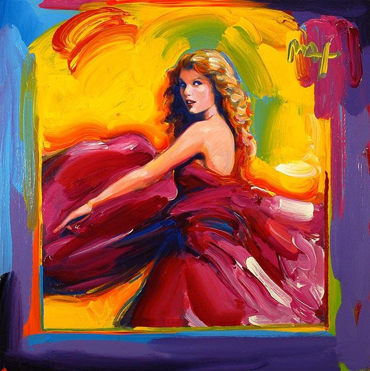 Taylor Swift Art on Canvas Print by   PETER MAX