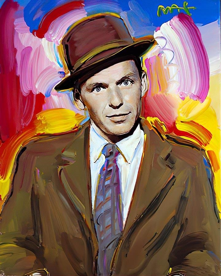 Frank Sinatra Art on Canvas Print by   PETER MAX