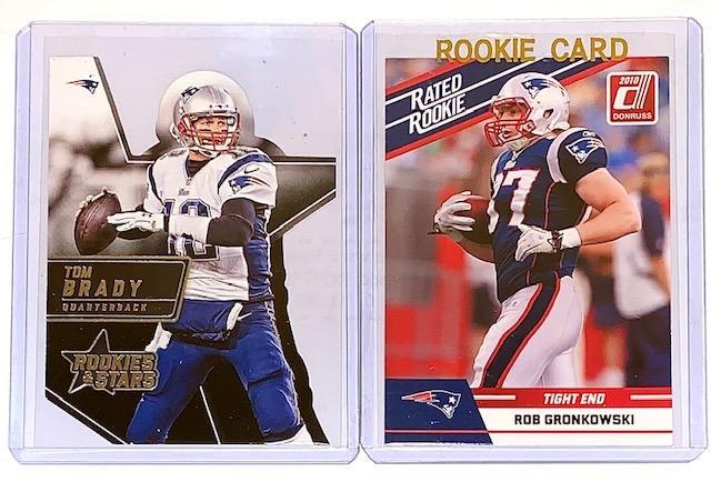 ROB GRONKOWSKI & TOM BRADY Rookies & Stars Cards