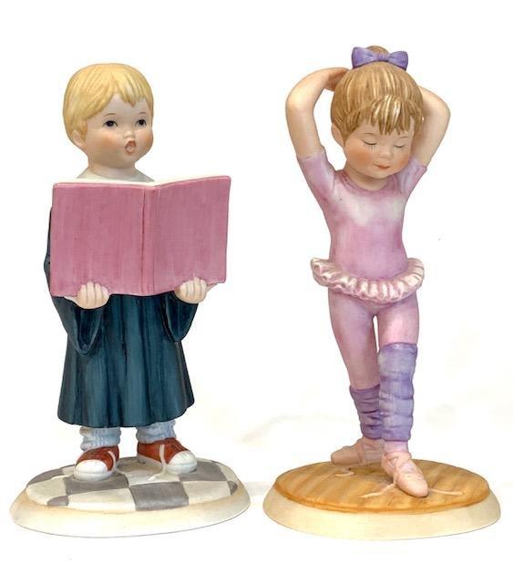 Lot of 2 Signed LENOX Fine Porcelain Figurines