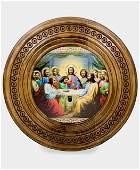 The Last Supper Handmade in Russia Religious Icon