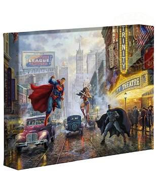 Genuine Thomas Kinkade Justice League Canvas Art w/COA