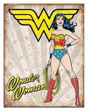 D.C. Comics WONDER WOMAN Throwback Metal Sign