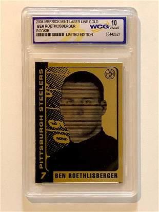 BEN ROETHLISBERGER 23k Gold Rookie Football Card