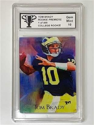 RARE 1 of 499 TOM BRADY Premiere Rookie Football Card