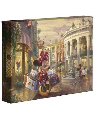 Thomas Kinkade Minnie & Mickey Rodeo Dr Canvas Art COA