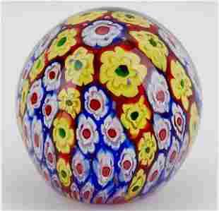 Beautiful MURANO Millefiori Art Glass Paperweight
